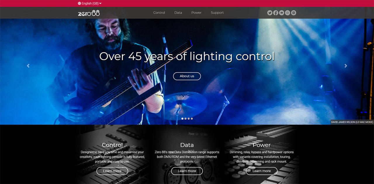 Cooper Lighting Systems Branded Zero 88 Site